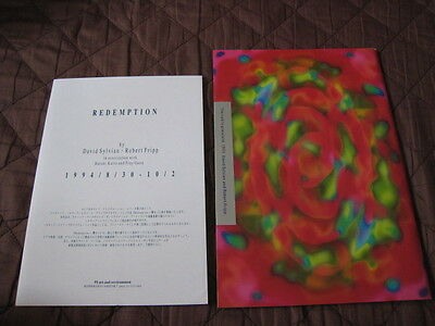 Sylvian Fripp 1993 Japan Tour Program Book w Flyer Raintree Crow King Crimson