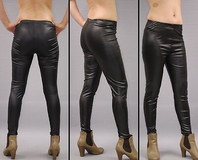 SeXy WETLooK LEGGINGS Lack-Leder-Latex-Look Leggins Gogo Clubwear gothic fetisch