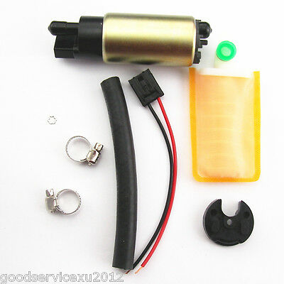Fuel Pump & Full Install Kit Oil Tube+Hose Clamps+Strainer+Rubber Cap For Toyota