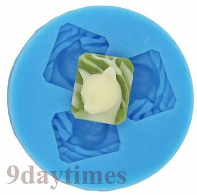 Lovely Cat Food Grade Silicone Mold Mould For Polymer Clay Crafts 20mm A091
