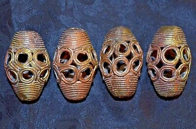 Ivory Coast Hand Made Lost Wax Brass Beads West Africa