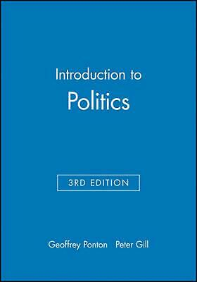 Introduction to Politics by Geoffrey Ponton (English) Paperback Book Free Shippi