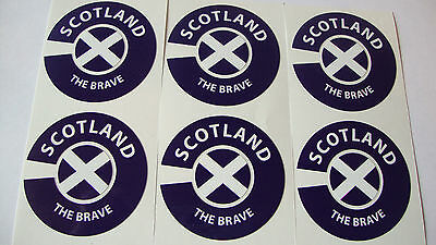 Scotland The Brave   16 Lawn Bowls Stickers Crown Green  8 Finger + 8 Thumb