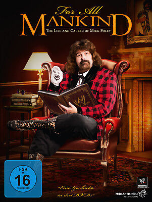 WWE MICK FOLEY For All Mankind The Life And Career Of Mick Foley 3x DVD DEUTSCH