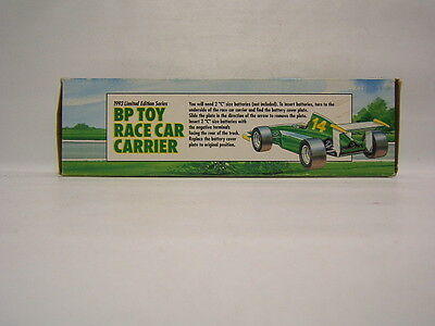 BP Toy Race Car Carrier 1993 limited edition series w/ working lights VGC