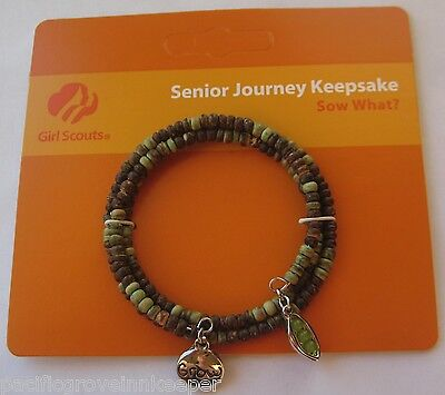 Girl Scout SENIOR JOURNEY KEEPSAKE BRACELET, SOW WHAT? Jewelry GIFT Agriculture