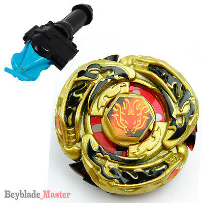 Fusion METAL Beyblade Gold Armored L-DRAGO Destructor Destroy+BLUE LAUNCHER+GRIP