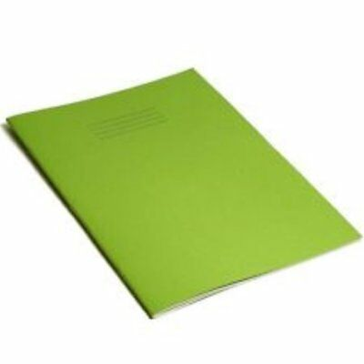 A4 School Home Office College Student Exercise Book Green Blank Pages
