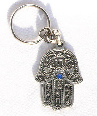 LOT 5 HAMSA Hand KEYCHAINS Jewish English Travel Journey Road Prayer,Israel Chai