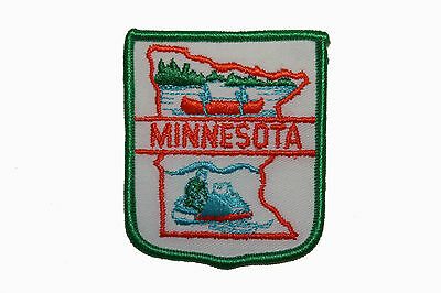 FB028 Minnesota Great Lakes Embroidered Applique Travel Souvenir Patch FD