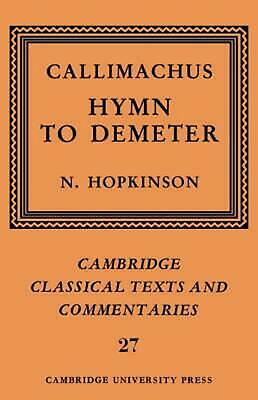Callimachus: Hymn to Demeter by Callimachus (English) Hardcover Book Free Shippi