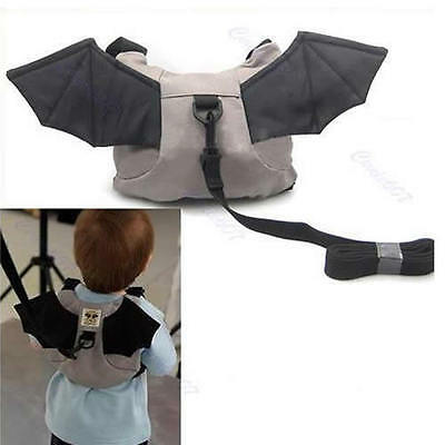 Bag Baby Kid Keeper Toddler Walking Safety Harness Backpack Strap Rein Bat