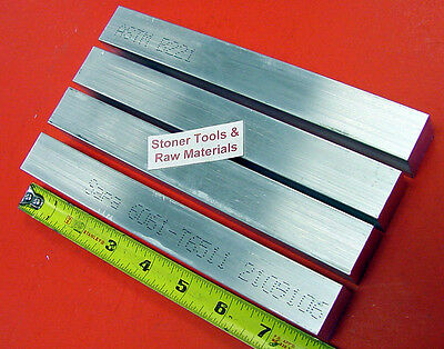 "4 Pieces 1"" X 1"" ALUMINUM 6061 T6511 SQUARE BAR 8"" long New Flat Mill Stock 1.00"