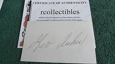 Masters Deceased George Archer Signed 3x5 Card COA