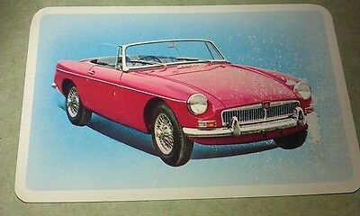 1965 MGB Sports Car  Golden Fleece Australia . Swap CARD