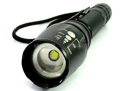 Variable Beam Focus Spot/Flood 1600 Lumen CREE XM-L T6 LED ZOOM Flashlight Torch