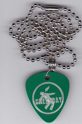 Green Day Warning Guitar Pick  Pendant Necklace Custom Engraved