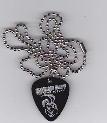 Green Day Awesome As Guitar Pick  Pendant Necklace Custom Engraved