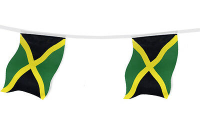 Jamaica Country Flag Bunting - 9M 30 Flags - Great Quality - Bob Marley
