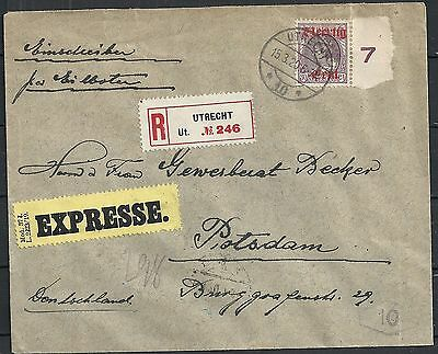 Netherlands 1920 NVPH 102 R-Express cover to Potsdam