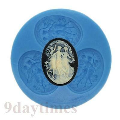 Dancing Girls Angels Silicone Mold For Polymer Clay Resin Crafts 40x30mm A217