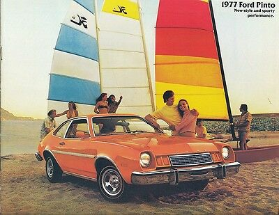 1977 Ford Pinto Sedan Runabout Wagons Dealer Sales Brochure Brochure - Mint!