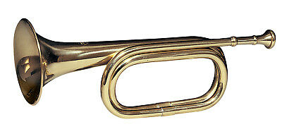 "brass army military funeral taps cavalry b-flat bugle 13"" with mouthpiece 10405"