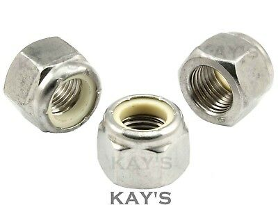 Unc Nyloc Nuts A2 Stainless Steel Imperial Nylon Insert Hexagon Lock Nut, Kay's