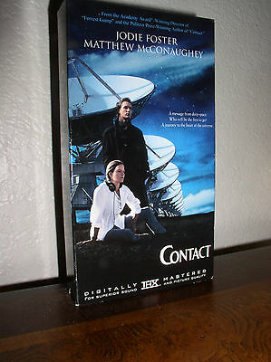 Contact starring Jodie Foster, Matthew McConaughey (VHS, 1998)