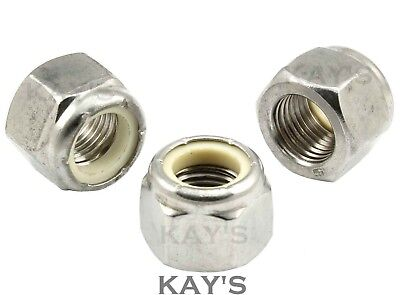Unf Nyloc Nuts A2 Stainless Steel Nylon Insert Locking 10 1/4 5/16 3/8 7/16 1/2""