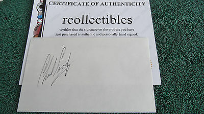 Masters Winner Charles Coody Signed 3x5 Card COA