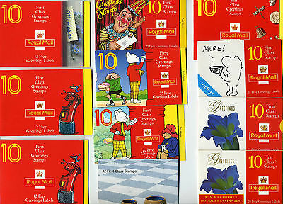 1989 to 2002 All greetings booklets, Booklet multiple listing  - FREE P & P