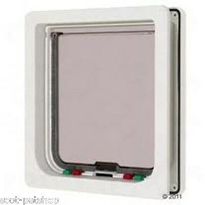 NEW Pet Mate Sml Dog Cat Flap 4 Way Locking Large White