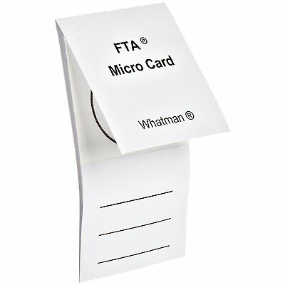 Whatman WB120210 FTA Micro Card with 1-Sample, 125 microliter Size (100 Pack)