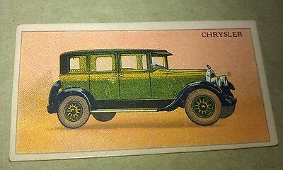 1928 CHRYSLER IMPERIAL 80  United Tobacco Co. South Africa Cigarette Card RARE