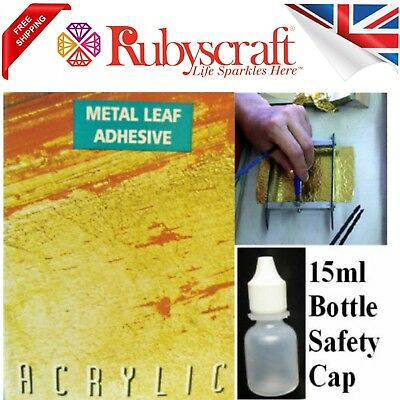 Gold/Silver Leaf Size Adhesive Glue Gilding 15ml Bottle Ideal for Small Projects