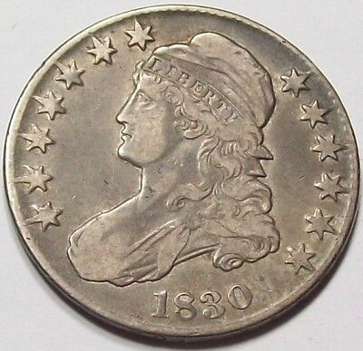 Early 1830 Small O Variety CAPPED BUST Half Dollar~SHARP XF ~Free U.S. Shipping