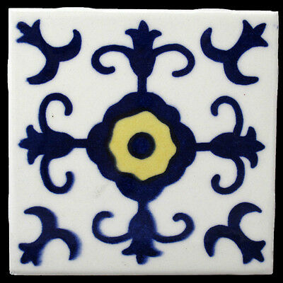 Mexican Tile Dal Tiles Blue Yellow Ceramic