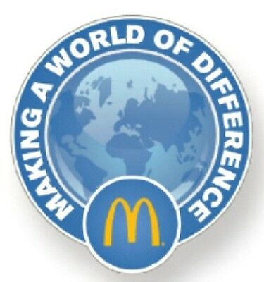 New In Package McDonald's Making A World A Difference World Lapel Pin FAST S+H