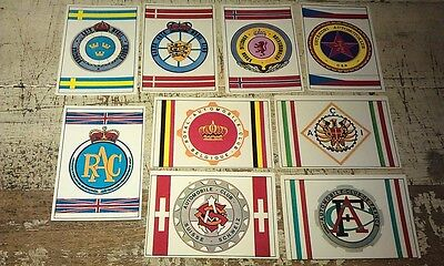AUTO CLUB EMBLEMS - Famous Cars by Top Sellers Ltd UK Trade Cards RARE