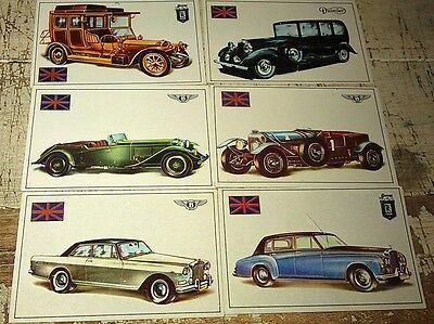 ROLLS ROYCE & BENTLEY - Famous Cars by Top Sellers Ltd UK Trade Cards RARE