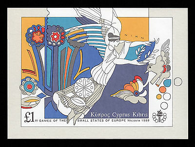CYPRUS 1989 3rd GAMES OF SMALL EUROPEAN STATES - MINIATURE SHEET MNH
