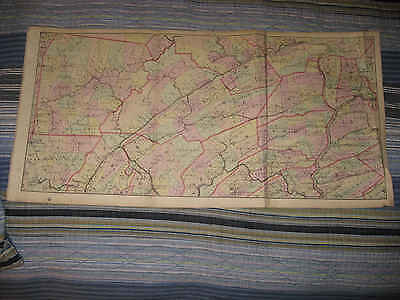 Antique Clearfield Centre Union Snyder Northumberland County Pennsylvania Map Nr