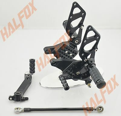 Black cnc Rearset Foot pegs Rear set For Ducati 999 749 all years