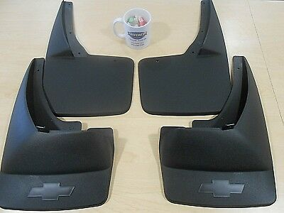 Front & Rear Splash Guards Mud Flaps 07-13 Chevrolet Avalanche 19212819 12499846