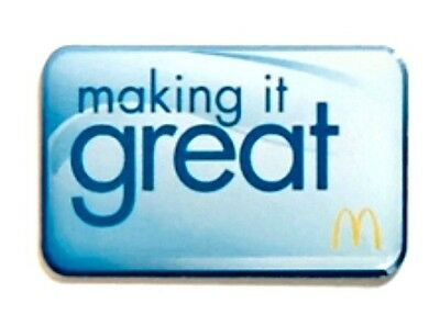 New In Package McDonald's Making It Great Lapel Pin Fast SHIPPING!
