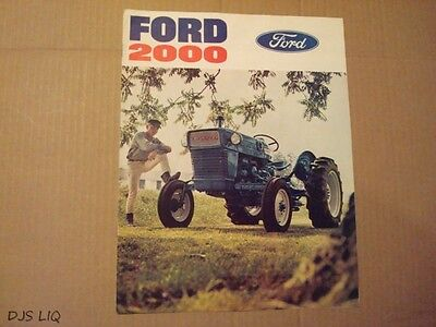 Ford 2000 Tractor Sales Brochure Manual Ae733