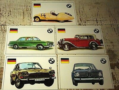 BMW - Famous Cars by Top Sellers Ltd UK Trade Cards RARE - 2002 328 etc