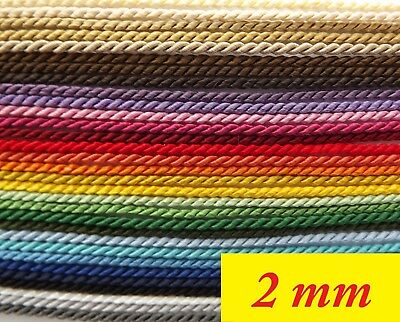 Twisted Cord, Braid Soutache, Ply cord – 2 mm wide - choice of length  (2F)