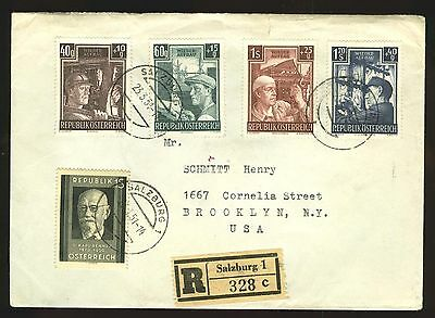 Austria: Sc. B273-B276 on registered cover to US